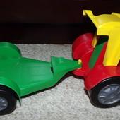 Машинка с прицепом