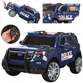 Детский джип M 3259 Eblr-4 , Police (Полоция), сиденье кожа, громкоговоритель