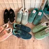 Классные замшевые натуральные кроссовки под Reebok