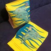 Нарукавники светло желтые с дельфинами (на 3-6 лет)