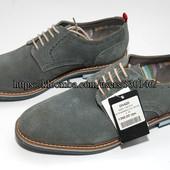 Мужские классические туфли на шнурках, натур. Замша Golderr, р. 43