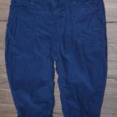 Стильные деми штаны, микровельвет на 3-6 мес