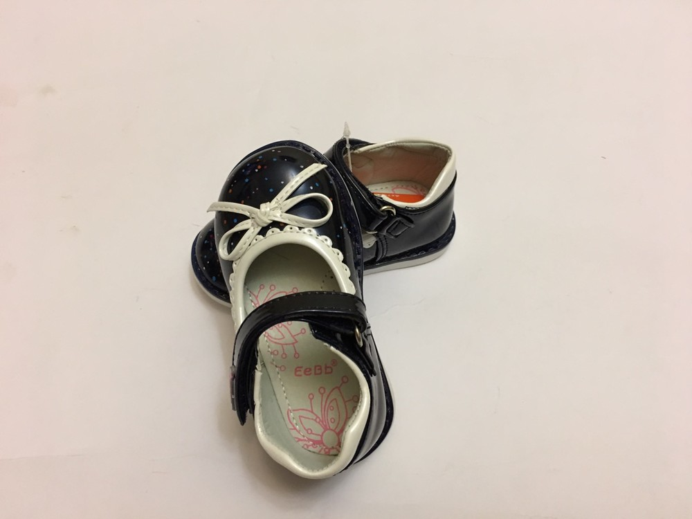 Туфлі сині з білим бантиком фото №4