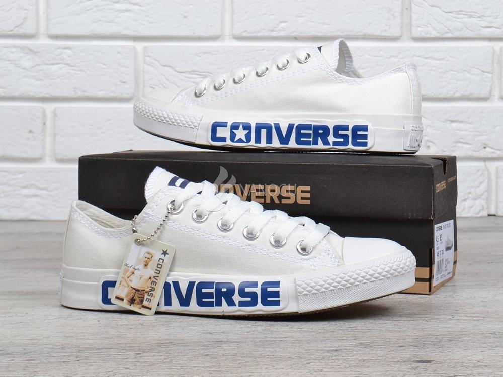 Оригинал кеды converse all star chuck taylor белые с синей надписью фото №1 d9e5bf3dee20b