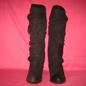 Кожаные демисезонные сапожки Janet D. (оригинал) - 38 размер