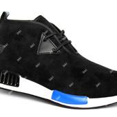 Легкие стильные мужские демисезонные кроссовки (519-4 black)