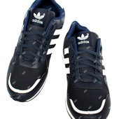 Темно-синие мужские демисезонные кроссовки (083-2)
