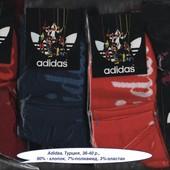 Носки женские Adidas, Турция, средние,  х/б спорт, деми, 36-40 р.