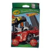 Crayola Набор для творчества 30 картинок и 4 восковых карандаша Hot Wheels mini coloring pack