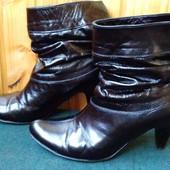 Демисезонные кожаные ботинки на утеплителе