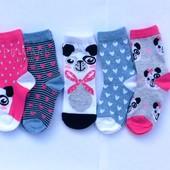 Носки для девочки 5 шт (27 - 40 евр) Primark