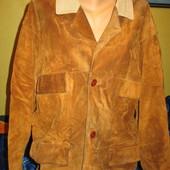 Куртка замшевая,утеплённая,мужская,р.50-52.Требуется чистка.