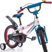 Велосипед Азимут Файбер 12 14 16 18 20 дюймов двухколеснный детский Azimut Fiber
