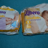 "Libero подгузники размер,""0"" и размер ""1"" (23шт) Отдам 100грн"