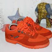 41 26см kangaroos яркие стильные кожаные кроссовки оранжевые