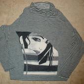 Шикарный свитер в полоску, р.S,М.