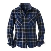 Фланелевая рубашка в клетку от Tchibo, Германия - отличный выбор для гардероба