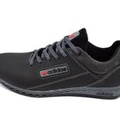 Подростковые кроссовки Adidas trainer lea black gray (реплика)