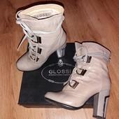 Демисезонные женские ботинки, натур. кожа, р. 36. Glossi