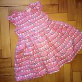 Классное платье Bluezoo 1-2 года, отл.сост.замеры внутри!!!
