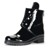 Женские демисезонные лаковые ботинки Hermes с болтами,модель 2017-2018,36-41р