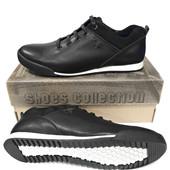 Туфли в стиле Комфорт модель sky чёрная кожа