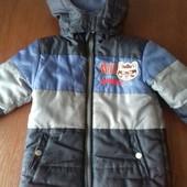 Демисезонная куртка мальчику с енотом,р-р 104-116