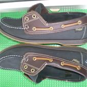 мужские туфли топсайдеры Timby р.43 ,стелька 27 см полностью кожа