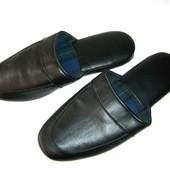 Мужские кожаные тапочки тапки 43-44р