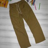 Marks&Spencer 7-8 лет 128 см летние тонкие штаны брюки коричневые (новые, сток)