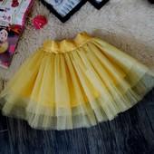 Нарядная фатиновая золотая юбка Five Stars U0118-116p