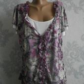 Трикотажная блузка обманка Per Una в идеальном состоянии Батал