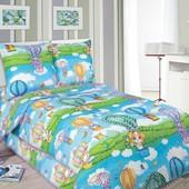 Комплект детского постельного белья Путешествие, поплин