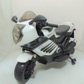 Детский мотоцикл bmw Moto Sport 168, колеса eva, кожа, 6 км/ч