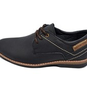 Мужские туфли кожа Multi Shoes ml черные