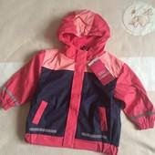 Куртка непромокаемая  на флисе , 80-86, 104-110 см , Германия
