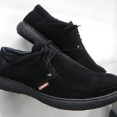 Замшевые туфли  40-43 разм