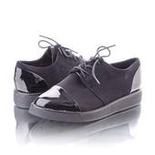 Туфли классика с лаковым носком и пяткой 9399