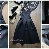 Идеальное неопреновое платье BooHoo с пышной юбкой,р-р М-Л