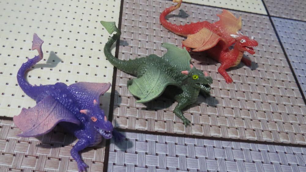Силиконовые  драконы 13 см (новые) фото №1