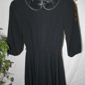 Черное платье с кружевным воротником ASOS