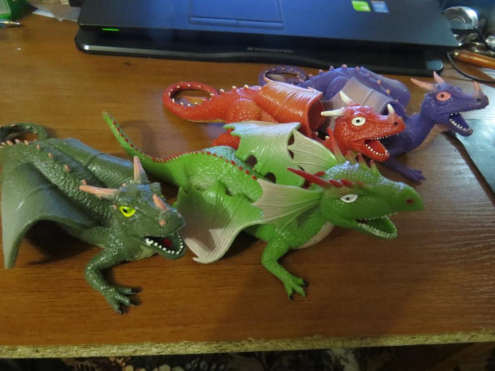 Силиконовые драконы и двухглавые драконы(новые) фото №1