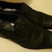 Классные кожаные туфли,Marinozzi,42 р.