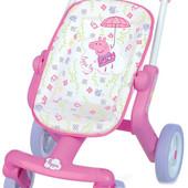Smoby Прогулочная коляска для куклы свинка Пеппа peppa pig poussette pop 251206