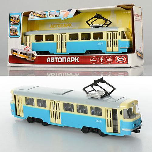 Трамвай инерционный со светом и звуком 9708  фото №1