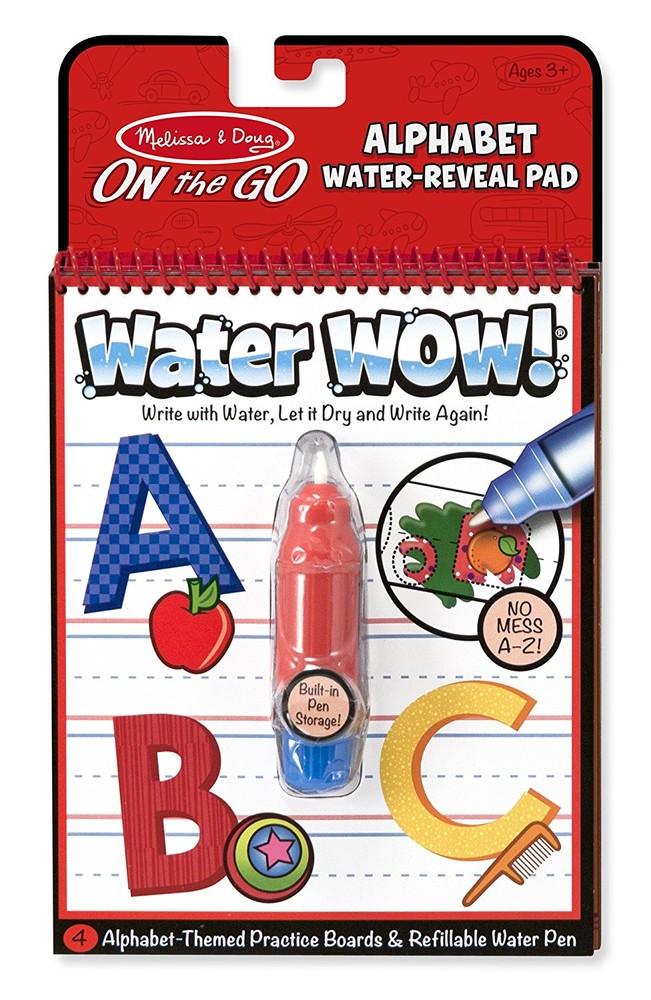 Melissa&doug многоразовая водная раскраска изучаем aлфавит md5389 on the go water wow! alphabet book фото №1