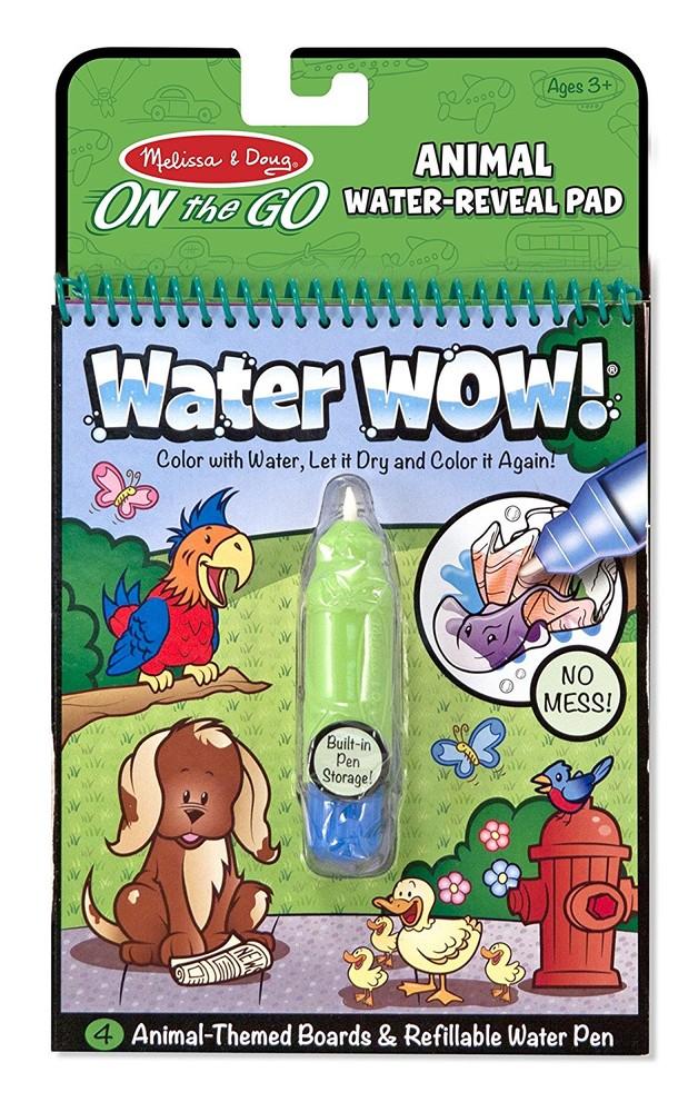 Melissa&doug многоразовая водная раскраска изучаем животных on the go water wow animals bbook фото №1