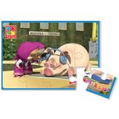 Мягкие пазлы Vt1103-33 /180*270мм/ Маша со свинкой Vladi Toys