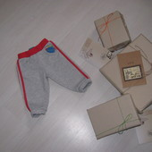 Спортивные штанишки с начесиком 6-12 мес (68-80 см)