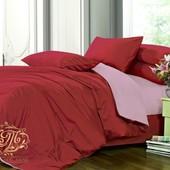 Комплект однотонного постельного белья, сатин микс №23+№005